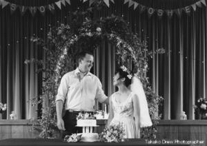 オーストラリア結婚式モノクロ