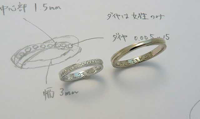 二連クロスの結婚指輪