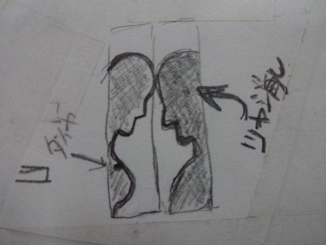 頭ごっつんのデザイン画