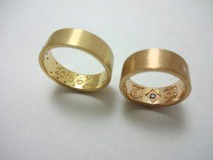 指輪内文字