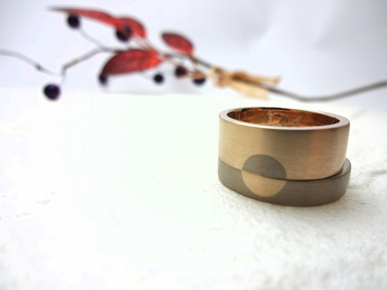 2人の料理人による指輪のデザイン